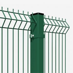 Панель 3D заборная 3/4мм; 1030х2500мм; яч.200/50 зелёная