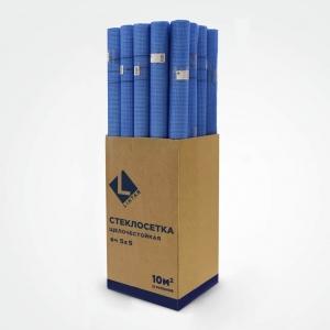 Синяя стеклосетка «LIHTAR» 5х5 мм рулоном 10м
