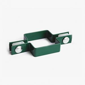 """Крепёж для 3D забора """"Хомут П-образный"""" 60х40мм зелёный"""