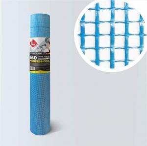Стеклосетка штукатурная 160 яч.5х5 (cиняя) для армирования фасадов от поставщика