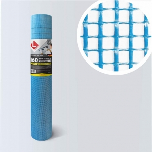 Сетка штукатурная 160г/м2 5х5мм (синяя), армированная для фасада - PROFESSIONAL «Lihtar»