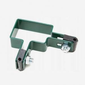 Крепёж угловой для 3D забора 60х40 мм зелёный
