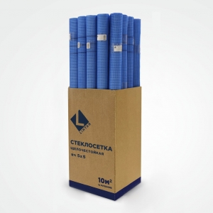 Синяя стеклосетка «LIHTAR» 5х5 мм рулоном 5м