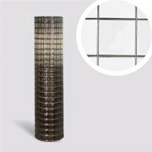 Сетка сварная черная в рулонах 1х25м / 50х60х1.35мм армировочная металлическая