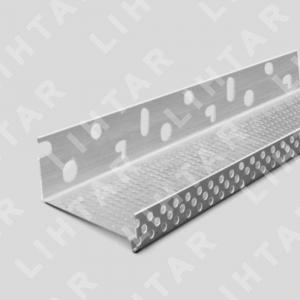 Профиль цокольный алюминиевый 53х2500мм; с капельником