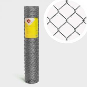 Сетка рабица оцинкованная  D1,6мм; яч.50х50мм; h1,5м